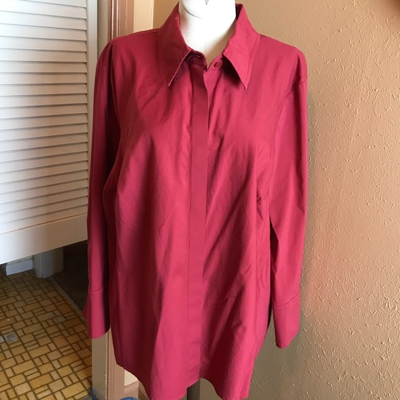 7e533d4ccc4c74 jcpenney Tops | Worthington Blouse Top Red 1x Stretch Like New ...